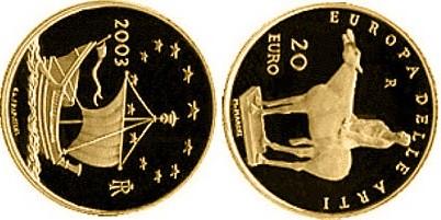 Baza monet EXG - 20 Euro: Europe of the Arts - Marino Marini