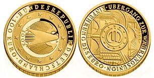 Baza monet EXG - 100 Euro: łœbergang zur Wł¤hrungsunion