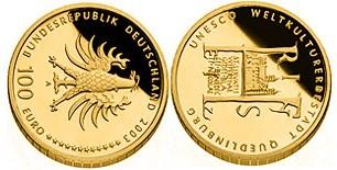 Baza monet EXG - 100 Euro: UNESCO Welterbe Quedlinburg