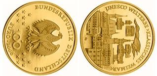 Baza monet EXG - 100 Euro: UNESCO Welterbe Weimar