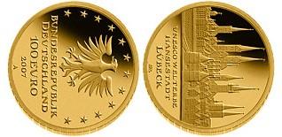 Baza monet EXG - 100 Euro: UNESCO Welterbe Lżbeck