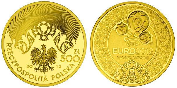 Baza monet EXG - 500 PLN UEFA EURO 2012