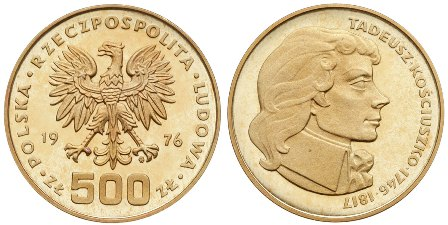 Baza monet EXG - 500 Złotych
