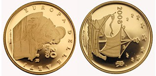 Baza monet EXG - 20 Euro: Europe of the Arts - Jan Vermeers