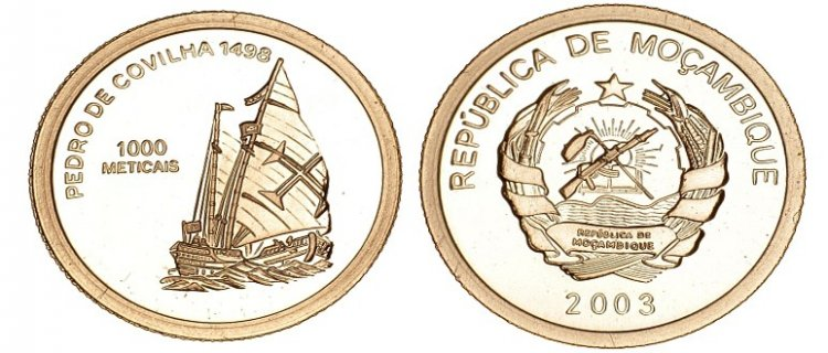 Baza monet EXG - Mozambik Pedro De Covilha 1000 Metical