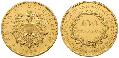 Baza monet EXG - 100 koron