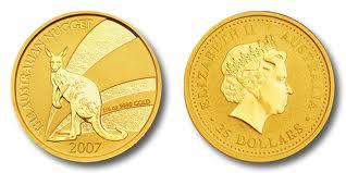 Baza monet EXG - Gold Nugget 25 AUD 1/4 oz