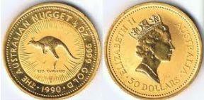 Baza monet EXG - Gold Nugget 50 AUD 1/2 oz