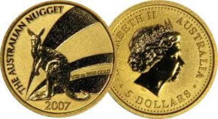 Baza monet EXG - Gold Nugget 5 AUD 1/20 oz