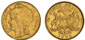 Baza monet EXG - 5 Pesos