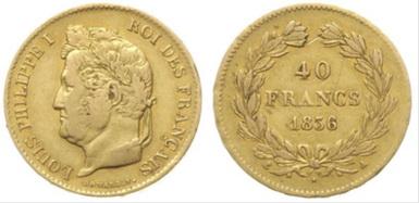 Baza monet EXG - 40 Franków