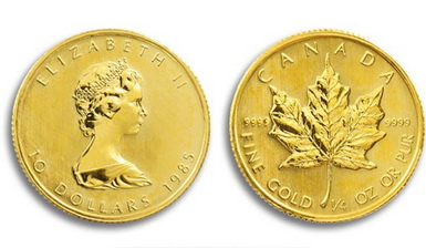 Baza monet EXG - 1/4 oz 10 CAD