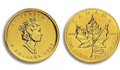 Baza monet EXG - 1/10 oz 5 CAD