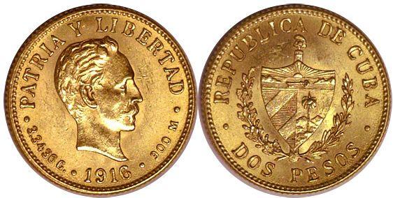Baza monet EXG - 2 Pesos