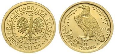 Baza monet EXG - 1/10 oz Orzeł Bielik 50 Zł