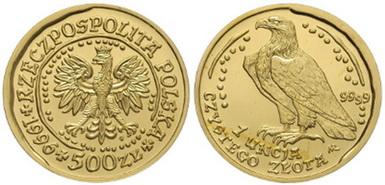 Baza monet EXG - 1 oz Orzeł Bielik 500 Zł
