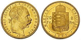 Baza monet EXG - 20 Franków/8 Forintów