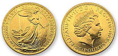 Baza monet EXG - 25 GBP Britannia 1/4 oz