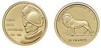 Baza monet EXG - Kongo Gwardia Szwajcarska 20 Franków
