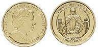 Baza monet EXG - Wyspy Dziewicze 450 lat Elżbiety I 10 Dolar