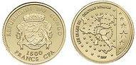 Baza monet EXG - Kongo 50-lecie Traktatu Rzymskiego 1500 Frank