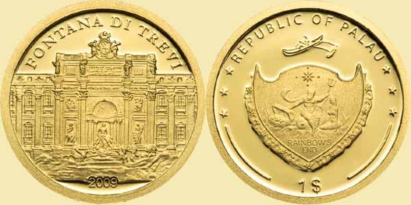 Baza monet EXG - Palau Fontanna di Trevi 1 Dolar