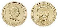 Baza monet EXG - Wyspy Cooka JPII Pielgrzym Pokoju 10 Dolarów