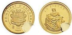 Baza monet EXG - Andora 2 Dinary Pieta