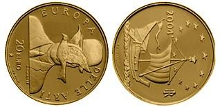 Baza monet EXG - 20 Euro: Europe of the Arts - Rene Magritte