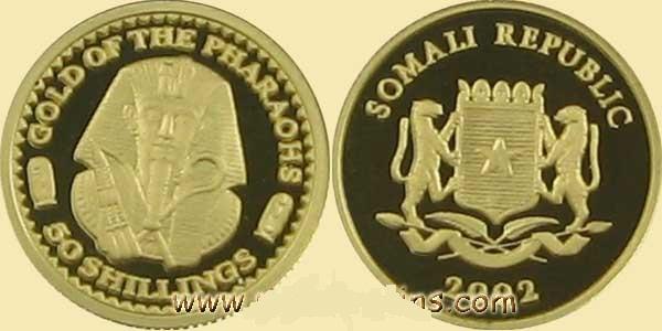 Baza monet EXG - Somalia Złoto Faraona 50 Szylingów