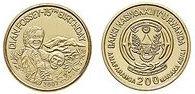 Baza monet EXG - Rwanda Dian Fossey 200 Franków